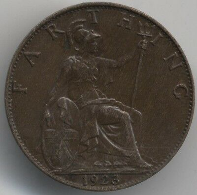 1923 George V Farthing***Collectors***High Grade***