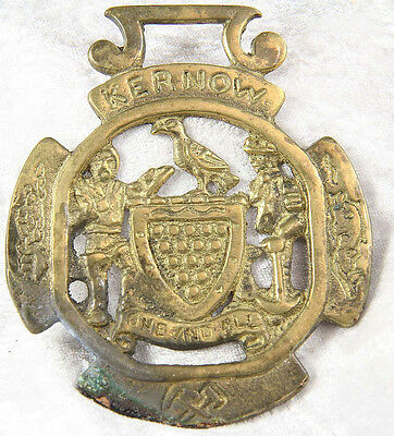 A horse brass featuring Kernow 4 inches tall collectable chuff