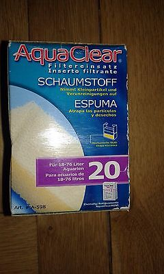 Aqua Clear 20 / Mini Foam Filter Insert Filter Media A-595 Brand New!!