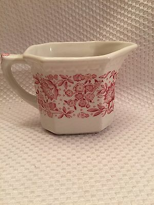 "Syracuse China ""Mayflower""  Creamer Red Floral on White USA See Photos"
