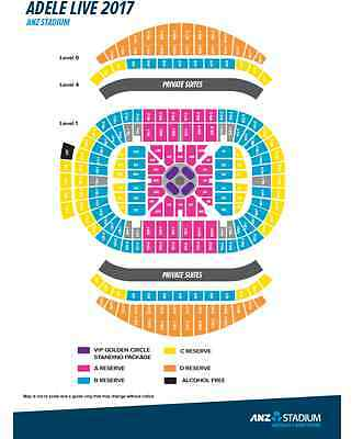 4 x Adele tickets Sydney Show, Floor Seats Reserved Session C
