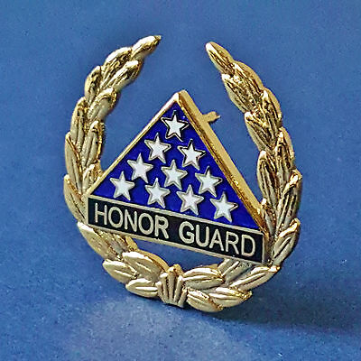 """GOLD HONOR GUARD..1"""" in size, Pin Back Attachment"""