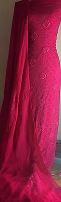 Multani Hand Eid Arr Embroided Shalwar /Kameez Anarkali Pakistani / Bollywood/