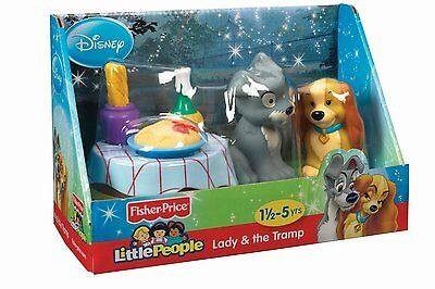 Fisher-Price Little People Disney Movie Moments Playset - Lady and the Tramp