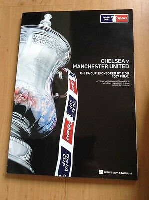 FA Cup Final Chelsea v Manchester United 2007 programme First at New Wembley