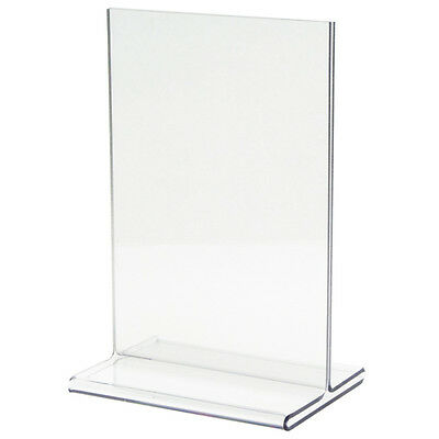 """Clear Acrylic Table Tent Marketing sign menu holder 4.75"""" x 6"""" (20pack) NEW"""