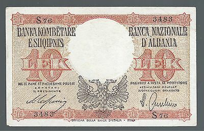 1939-1944 Albania Paper Money, 10 Leke.Italy Occupation