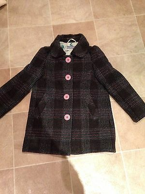 Girls Warm Smart Winter Coat Age 4-5 Years Excellent Condition