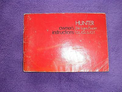 Hillman Hunter owners instruction book