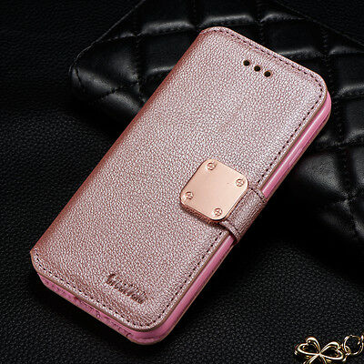 Magnetic Leather Luxury Flip Stand Wallet Case Cover For Samsung Galaxy Phones