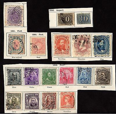 Stamps ~ BRAZIL Mixed SOUTH AMERICA Early ~ Unsorted #2
