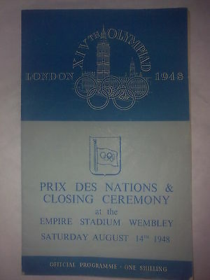 Programme Olympic Games LONDON 1948 - CLOSING CEREMONY 14.08.1948