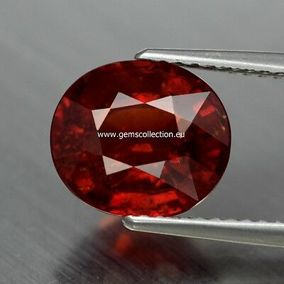 Aaa - Spessartite Garnet  Ct 4.47 Oval Cut Origin Namibia Africa  Very Good