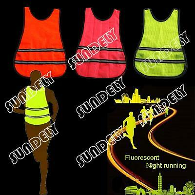 Outdoor High Visibility Running Vest Reflective Cycling Bib Safety Top