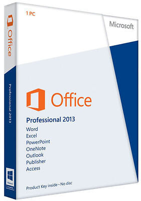Microsoft Office Professional 2013 Plus Full version/1 PC/E-mail delivery