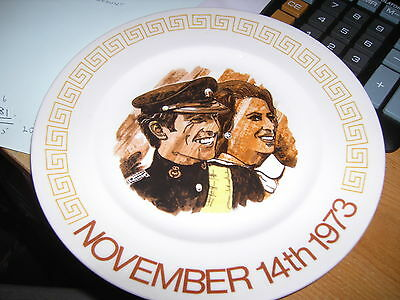 Collectable plate commemorating the wedding of Princess Anne and Mark Phillips