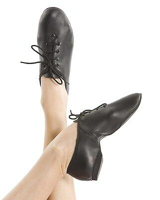 NEW - JAZZ SHOES- FULL SOLE- CHILDS Size 7 x2 -ENERGETIKS- Black- lace up