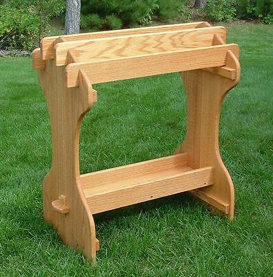 AMISH Stained Oak Saddle Rack Stand  No Tool asbly wood