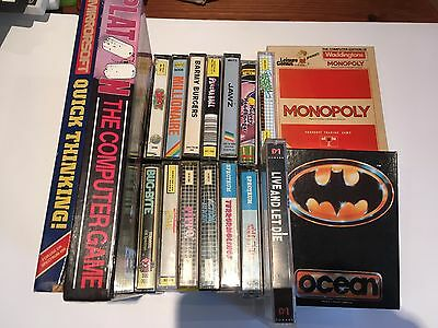 Bundle of 18 Tapes for ZX Spectrum 48k Games - Batman Platoon & Many More