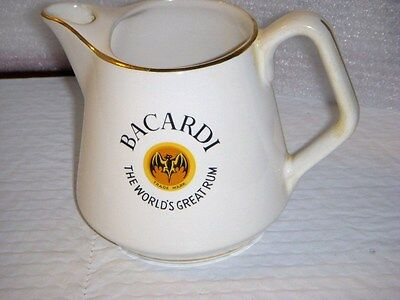 BACARDI THE WORLDS GREAT RUM   advertising PITCHER / JUG empty
