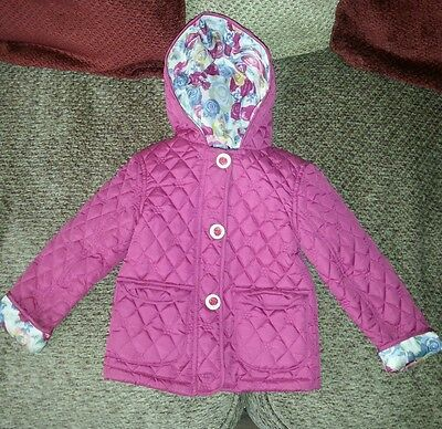 George Cerise Quilted Infant Jacket Age 2-3