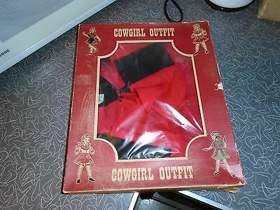 Vintage 1950s Pla Master Cowgirl Outfit with Box Size 16