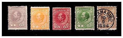 Suriname Early Stamps. 1873. Mint No Gum/Used.  {#900}