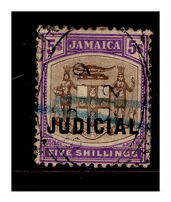 Jamaica Judicial 5/- Revenue Stamp. 1908. Used.  {#739}