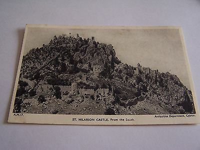 Vintage Postcard St Hilarion Castle from the South Cyprus