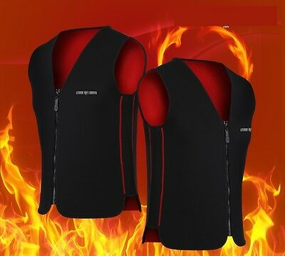 Self Heating Heated Neoprene Vest Motorcycle,Camping,Outdoor None battery Black