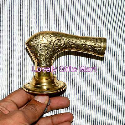 Vintage Solid Brass Door Handle Pulls Pub Architectural Salvage Shop Old