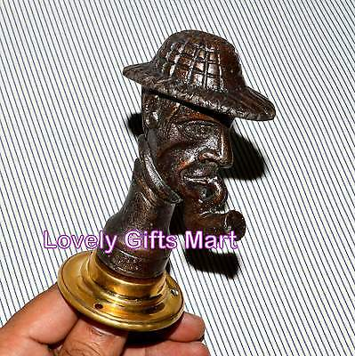 Vintage Style Handcrafted Rare look Brass Men Door Handle Pulls 4