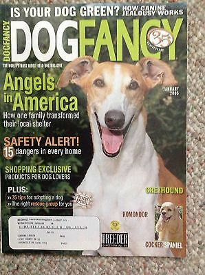 DOG FANCY Magazine ~ Greyhound  Issue ~ Jan 2005 Komondor Cocker Spaniel