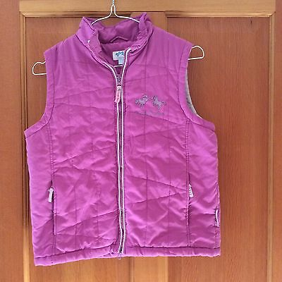 Cuddly Ponies Girl's Pink Gilet - Age 10 - 140