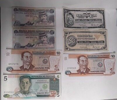 Lot Of 7 Misc. Foreign Notes (B11)