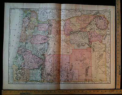 Antique 1894 OREGON Map Excellent Large Size For Wall 28 x 22