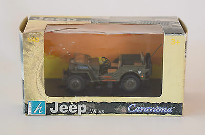 Willys Military Jeep 1/43 Cararama Diecast Model US Army New in Box