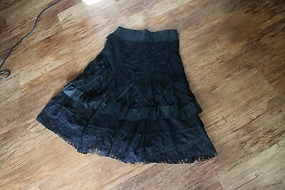 P.R. layered black lacey gypsy skirt M