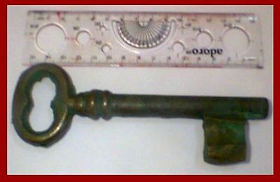 Maltese Vintage Antique 19th Nineteenth Century Large Brass Key Keys Malta Lock