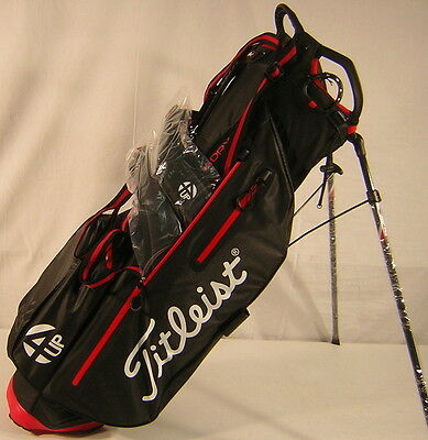 Closeout Titleist Golf StaDry Light Stand Bag 4UP Black/Red TB6SX2-06
