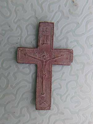 WW1 RELIC Trench art: Russian soldier's CRUCIFIX of 1915