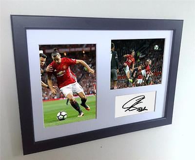 Signed Zlatan Ibrahimovic Manchester United Autograph Photo Picture Man U Utd A4
