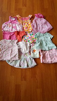 Baby girl clothing lot size 6-12 months