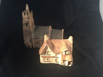 Philip Laureston pottery minature house Cottage Church