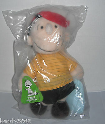 """Vintage PEANUTS Gang 15"""" LINUS Plush Doll - Determined Productions NEW"""