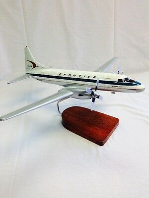 Convair CV-580 flown by Frontier Airlines, model aircraft