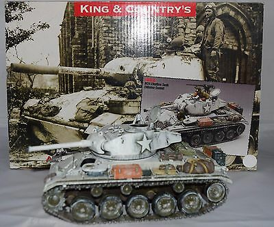 King And Country Bba018 M24 Chaffee Tank Winter Camo 1:30 Scale - No Figures