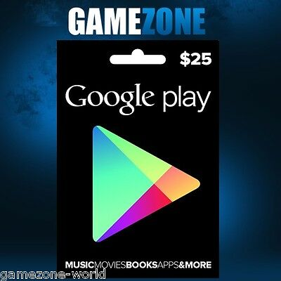 $25 Google PLAY Store USA Gift Card - 25 Dollar Google Play Android USD Code