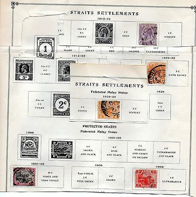 strates settlements federated states 5 stamps includes scott #23 1901-32