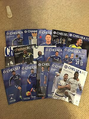 Chelsea Fc Matchday Programmes X 15